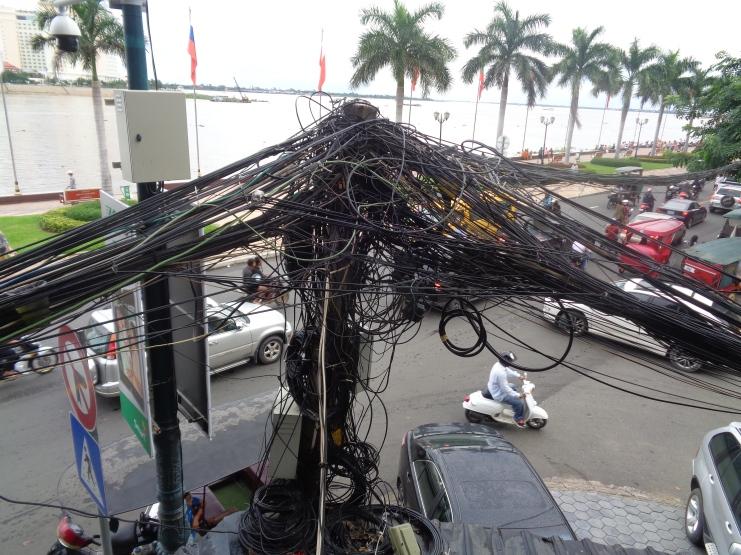 Crazy hydro wires, Phnom Penh
