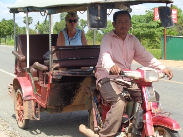 Panu and Barb in tuk tuk