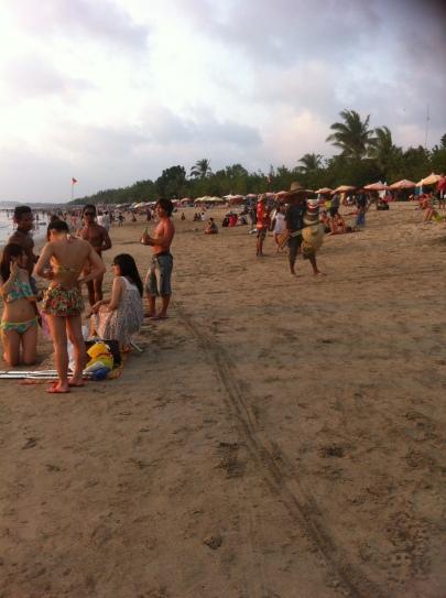 Kuta Beach just before sunset