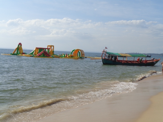 Otres Beach. Some play thing they put in the water