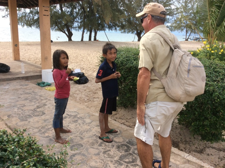David with kids in Ptres Beach
